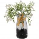 groothandel Woondecoratie: Gypsophila cami in een glas, H16cm, wit